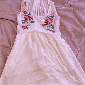 2/$8  High low embroidered detail sun dress